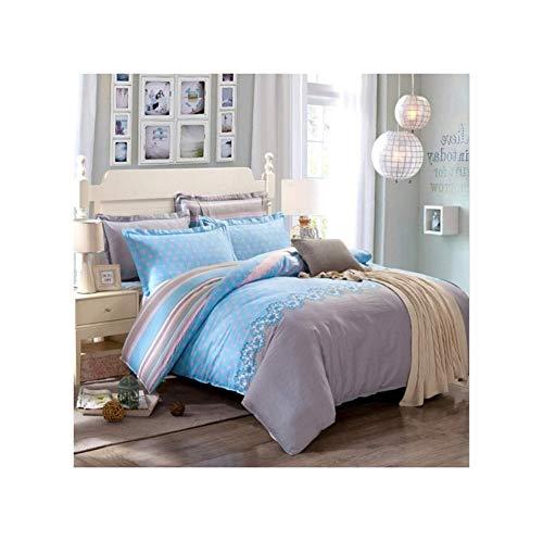 und Blau Bettwäsche-Sets 4 Stück Bettbezug-Sets Niedliche Muster Bettbezug Mit Reißverschluss Baumwolle Bettbezug Weiche Bettdecke Twin Voll Königin König, Rosa Rund , ()