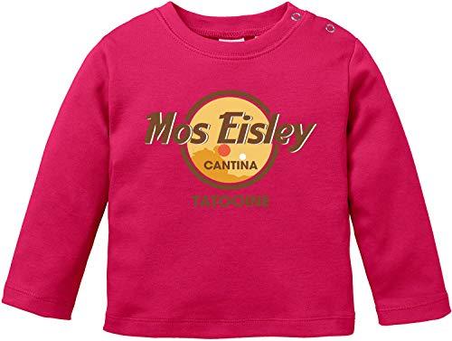 AngryShirts Mos Eisley Cantina T-Shirt Langarm Baby Bio Baumwolle (Luke Skywalker Baby-kostüm)