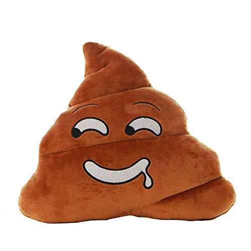 MAXGOODS Emoji Emoticón Almohada Suave Almohadilla Estilo Divertido Infantil de Caca Mierda Peluche Felpa (5 Opciones de Tipos) (Saliva)