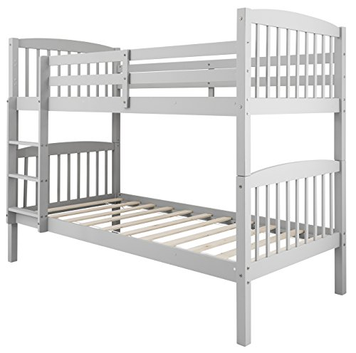 Noa and Nani - Brighton Bunk Bed | Splits into 2 Singles - (Silk Grey)