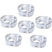6 Pcs Parafango per maniglie in PVC per porta a 6 pezzi - Fermaporta per porta trasparente - Paraspigoli per porta