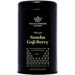 Sencha Grüntee, mit Goji Beeren und Granatapfel