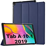 EasyAcc Case for Samsung Galaxy Tab A 10.1 2019 T510/ T515 - Ultra Thin with Stand Function Slim PU Leather Smart Case Fits Samsung Galaxy Tab A T510/ T515 10.1 Inch 2019 Blue