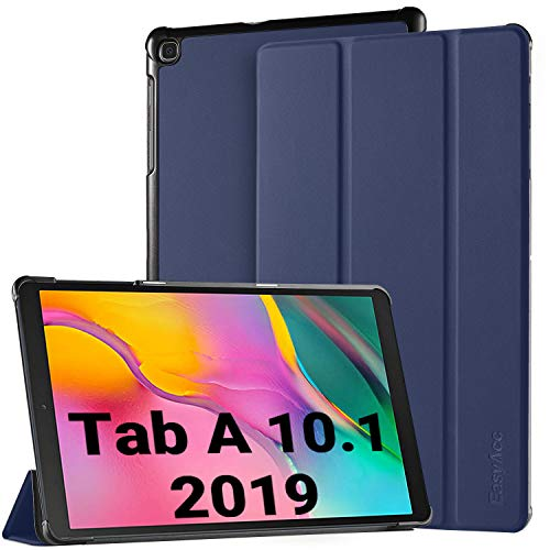 EasyAcc Hülle für Samsung Galaxy Tab A 10.1 2019 T510/ T515 - Ultra Dünn mit Standfunktion Slim PU Leder Smart Schutzhülle Passt für Samsung Galaxy Tab A T510/ T515 10.1 Zoll 2019, Blau