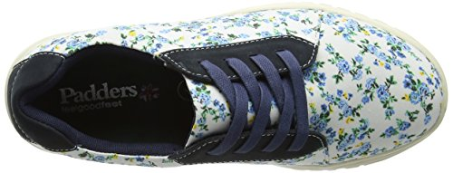 Padders Damen re Flower Low-Top Blue (Navy Floral)