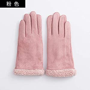 41tUvqW8B7L. SS300  - Q_STZP Gloves glove mitten Gloves ladies winter plus velvet warm touch screen thickening five fingers points to the Korean version of the winter cycling driving plush gloves