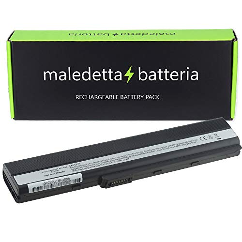 Batteria HQ 5200mAh 108V per portatile Asus A42 A5 A52 A52F A62 X42E X42F X42J X42JB X42JE X42JK X42JR X42JV X52 X52D X52DE X52DR X52J X52JB X52JC