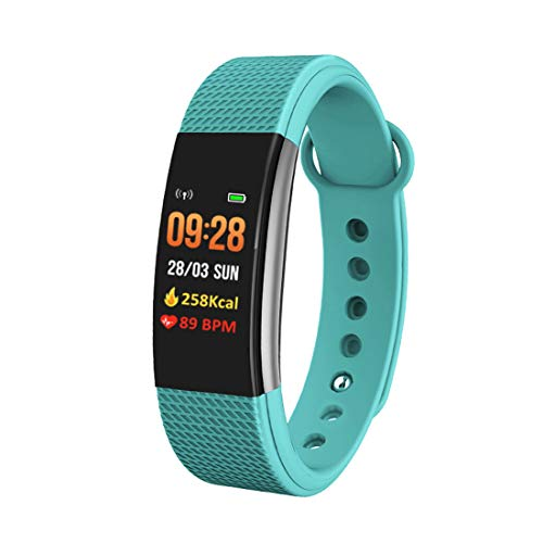 Bingo Smart Bands,F1S Smart Health Band with Waterproof Heart Rate Sleep Monitor Pedometers Calorie Counter Call Messages Alarm Reminder Reject Call for Men Women Boys Kids (Green)