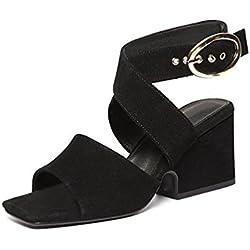 Damen High Heels  Sandaletten Wildleder-Optik   Gladiator Sandalen Pumps   Plateau Party Schuhe   Sommerschuhe Abiball Hochzeit   Brautschuhe