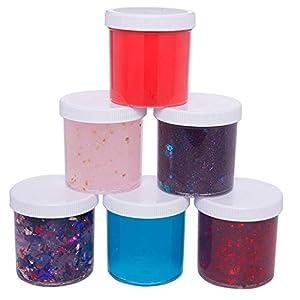 INTVN Slime Aufbewahrungsbehälter Behälter, Aufbewahrungsbox mit Deckel Schleim Speicher Behälter (6 Stück) für Schönheitsprodukte, DIY Slime Herstellung oder Andere