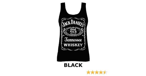 53ee496f4f5 Womens Jack Daniels Whiskey Slogan Whisky Vest Tank Top Black UK 10  (Small)  Amazon.co.uk  Clothing