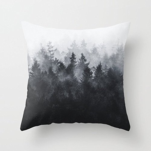 Shengpeng Mountians Forest Pillow Cases 18 X 18 Inches / 18X18 cm Best Choice for Divan,Indoor,Dining Room,car Seat,Shop,Couples with Double Sides Mountian Horse