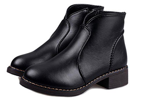 XDGG Frauen Neue Lokomotive Martin Stiefel Seitliche Reißverschluss Mode Stiefel Schuhe , 35 (Western-stiefel Baby,)