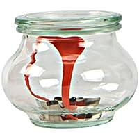 Weck - Bote de 1 ML, con tapadera de 1 litro, con Junta y Clips, Caja de 4 Piezas, Cristal, Transparente