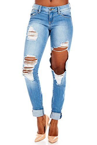 Womens Heavy Destroyed Skinny Jeans Wv14298 (1) (Jean Heavy Skinny Destroyed)