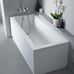 Baignoire Rectangulaire Molveno Blanche Acrylique Lucite® avec tablier Style moderne 1500mm (choix de couleurs) 106 litres