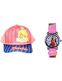 Summer Combo : Kids Cap and Watch( Designs and Colors May Vary) 3 - 10 Years: with 1 Free Googles