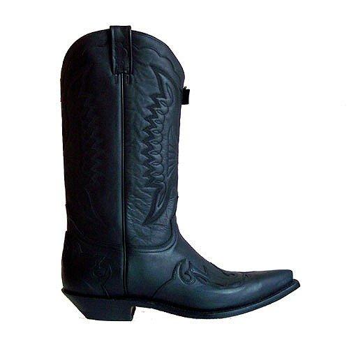 Rancho , Bottes et bottines cowboy mixte adulte Noir - Noir