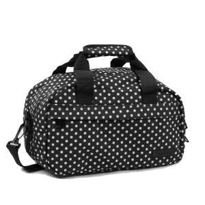members-essential-on-board-ryanair-compliant-second-hand-baggage-in-black-white-polka-dot