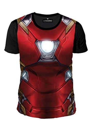 Man Herren T-Shirt - Sublimation (Multicolor) (S-XL) (S) (Civil War Spiderman Kostüm)