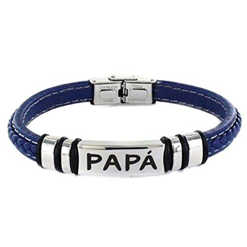 'bracciale acciaio regalo festa del papà
