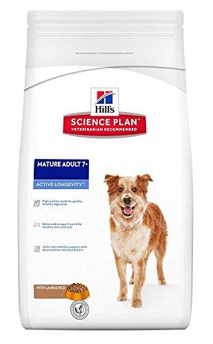 Hill's Canine Mature Adult Senior 7+ Lamm & Reis12kg, 1er Pack (1 x 12 kg Packung) - Hundefutter