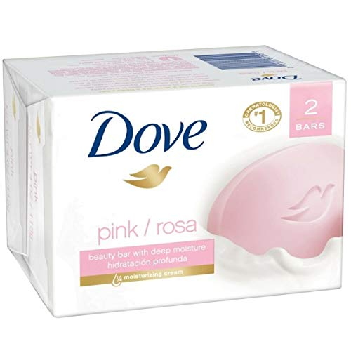 Dove Beauty Bar Pink 4 oz, 2 Bar (Pack of 24)