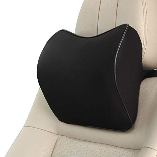 TYZAG Power by 100% Memory Foam Orthopedic Car Neck Headrest Pillows for Neck Pain Relief (Black)