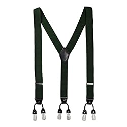 The Tie Hub Booster Solid -Green Suspender
