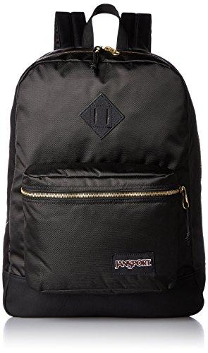 Jansport Unisex-Erwachsene Super Fx Rucksack, O/S, Black/Gold
