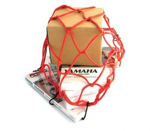 Gepäcknetz 40 x 40 cm rot für Roller u. Motorrad Sitzbank
