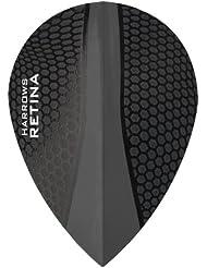 Harrows Retina vuelos dardos–5juegos (15)–100micras Extra fuerte–Pera, color negro