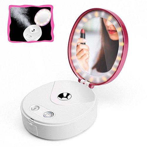 OMZBM Portable Nano Gesichts Dampfer Trocken & Öl Haut Schönheit Instrument Zerstäubung Moisturizing Wiederaufladbare Nebel Sprayer,Pink