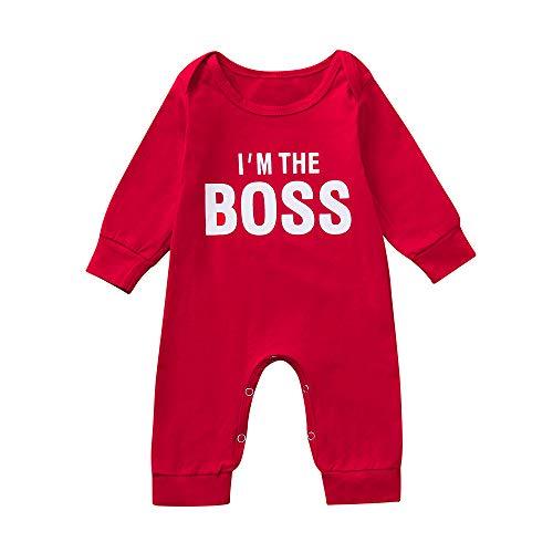 Shopaholic0709 Neugeborene Kleidung, Baby-Junge Langärmelige, mit Buchstaben Bedruckte -