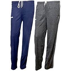 IndiWeaves Women Premium Cotton Lower with 1 Zipper Pocket and 1 Open Pocket(Pack of 2)_Blue::Grey-40
