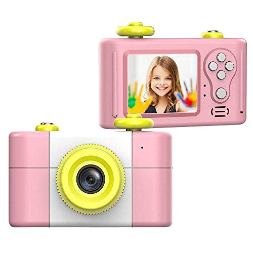 CamKing Kids Digitalkamera, Kinder-Videokamera HD1080P 1,5-Zoll-Bildschirm Kinder Foto / Video-Kameras für Kinder Digital Video Camcorder (Rosa) 1g Video
