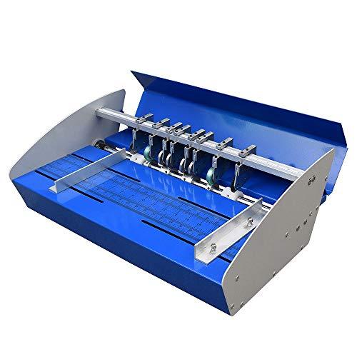 Hansemay 3 In 1 Rillmaschine 18 Zoll 460 mm Metall Elektrische Rill Scoring Machine Heavy Duty Metall Papier Creaser für Papier Card Book Scoring