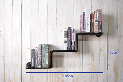 Deko Wandregal LOIFT Retro American Water Pipe Bücherregale Industrial Wind Creative Racks Computer Schreibtisch Bücherregal Wand Wandhaken Rack (Bücherregal American)