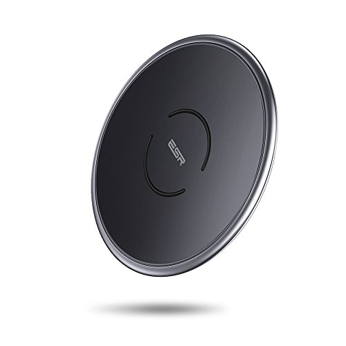 ESR Caricatore Wireless Qi [Carica Rapida per Apple 7.5W & Android 10W] [Garanzia a Vita] Ricarica Wireless per iPhone XS/XS Max/XR/X/8/8 Plus, Samsung Galaxy.【Adattatore AC Non Incluso】
