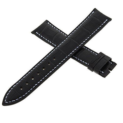 Franck Muller Geneve cousu Main Leder schwarz 18–16mm Armbanduhr Band