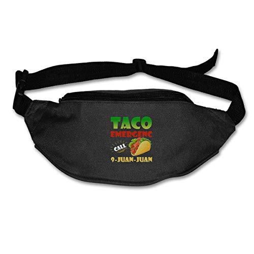 tyui7 Taco Emergency Call 9 Marsupio Juan Juan Sport Marsupio con Cinturino Elastico Regolabile per Escursioni in Biciclett