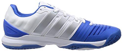 adidas  Adipower Stabil 11, Chaussures de handball hommes Blanc - twr white/silver met./bright royal