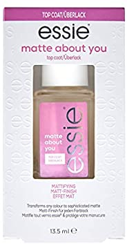 essie Matte About You, Nail Polish Top Coat, Clear, 13.5 ml