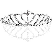 Corona de princesa con corazón – Diadema de brillantes para boda, ...