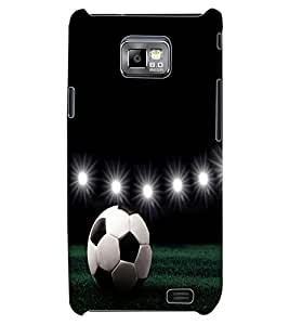 ColourCraft Football Design Back Case Cover for SAMSUNG GALAXY S2 I9100