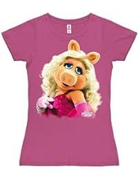 Logoshirt Girl's Muppets-Miss Piggy-Portrait T-Shirt