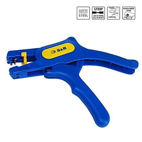 S&R Automatische Abisolierzange 0,2-6mm² RAPID Abmanteler mit Schneide bis 2mm² AWG 10-24