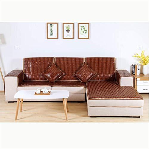 TT&CC Sectional Sofa Deckel,Bambus Sofa Kissen Rattan Anti-rutsch Matte Sommer Cool Sofa Handtuch Sofa Arm Decken Verschiedene Größen Sofa Slipcover-D 70x150cm(28x59inch) -