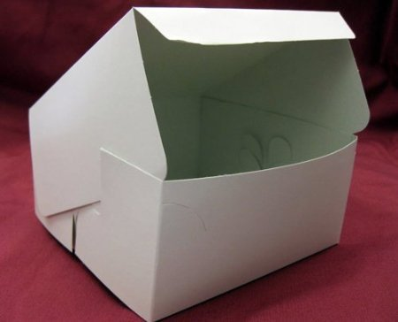 25 x White Cake Box 6 x 6 x 3 Cupcake, Muffins, Mince Pies, Cakes & more by General Trading Store (White Cake Box)