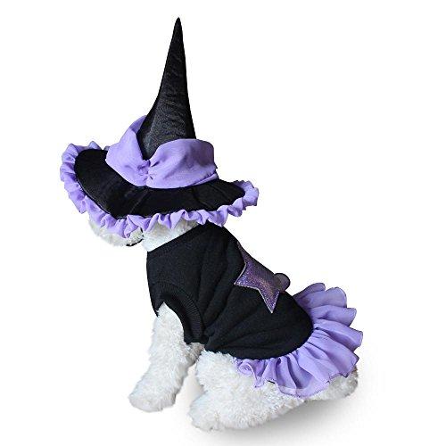 Haustier Hund Halloween weichen Zauberer Anzug Kostüm Kleidung Welpen Katze Kleid Hut Bekleidung LNAG , s